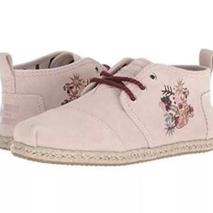 Toms Blush Suede Embroidered Bota Boots
